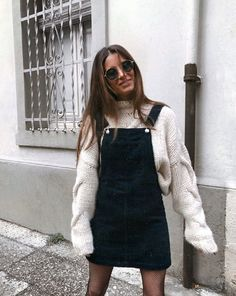 Found: Cute Overall Dress Outfits to Try for Fall. Source by soophierns Found: Cute Overall Dress Outfits to Try for Fall. Source by soophierns Found: Cute Overall Dress Outfits to Try for. Dress Up Outfits, Tomboy Outfits, Fall Fashion Outfits, Mode Outfits, Women's Dresses, Winter Outfits, Autumn Fashion, Casual Outfits, Womens Fashion