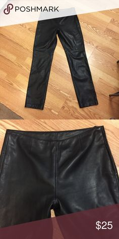 All Leather Straight Leg Pants Classic and edgy! Practically new! Pants