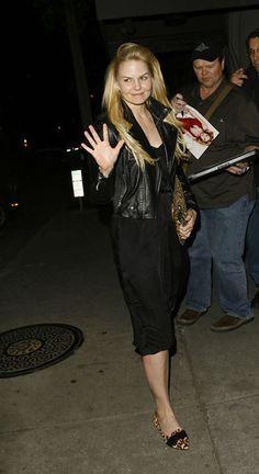 Jennifer Morrison | Leaving Craig's Restaurant 3/13/15.