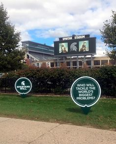 MSU Yard Sign designs created by Extra Credit Projects