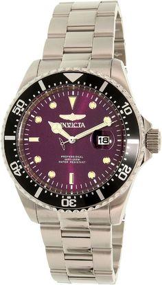 Amazon.com: Invicta Men's 22024 Pro Diver Automatic 3 Hand Platinum Dial Watch: Invicta: Clothing