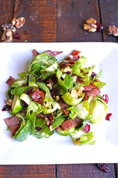 Maple Orange Brussels Sprout Salad with Bacon I Primal Paleo