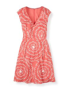 Printed Spring Dress WH778 Day Dresses at Boden