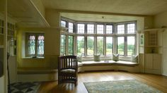 Blackwell Arts and Crafts House by Baillie Scott: White Drawing Room
