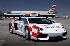 Lamborghini Aventador as Bologna Airport vehicle. Must apply for that job there!!!