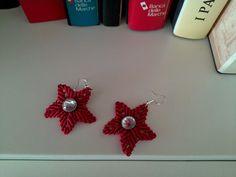 orecchini stella rossi