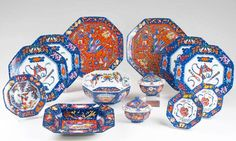 """""""Marqueterie"""" dinner service for 6-8 people by Hermès, porcelain,"""