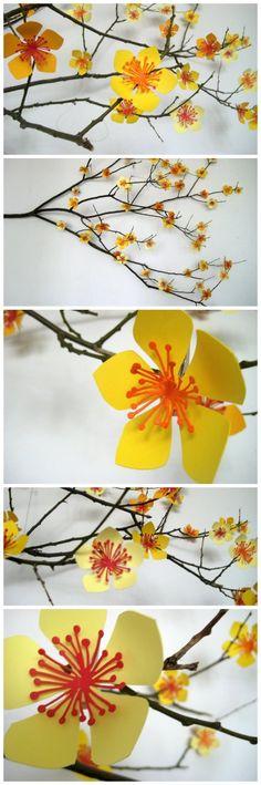 Photo von Papier - Blüten --- von Papi(e)ris: