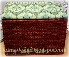 Easy upholstering of ottoman