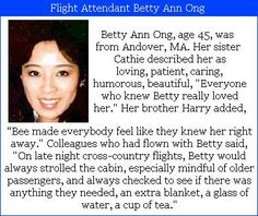 Betty Ann Ong #WeRemember We Will Never Forget, Don't Forget, Let It Be, We Remember, Always Remember, United Airlines Flight 175, Airline Flights, Girls Rules, September 11