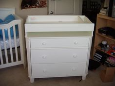 Baby Bed with Changing Table and Dresser . Baby Bed with Changing Table and Dresser . Baby Bed with Changing Table Best Changing Table, Crib With Changing Table, Changing Table Topper, Built In Dresser, Changing Table Dresser, Changing Pad, Changing Unit, White Dresser Nursery, Baby Dresser