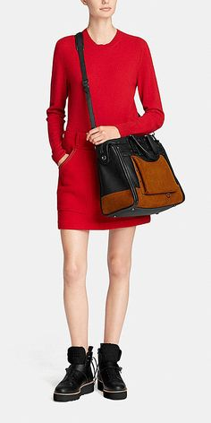 Rhyder 33 Colorblock Satchel in Leather
