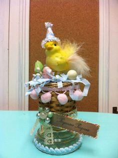 Easter vintage chick vintage basket vintage by madigansbbfl