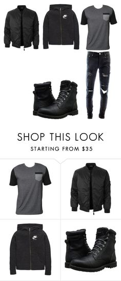 """Damon TRAPPER"" by karenna-designs on Polyvore featuring Billabong, LE3NO, NIKE, Timberland, men's fashion and menswear"