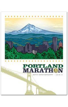 Portland marathon poster