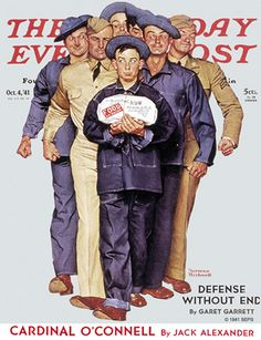 'Package from Home' by Norman Rockwell