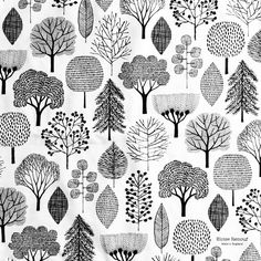 Folding and packing napkin sets, whilst contemplating new design work. Many tentative ideas but nothing solid. As yet. #trees #napkins #woodland #madeinengland #blackandwhite #eloiserenouf