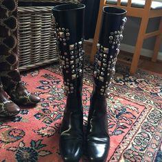 Saint Laurent Black Tall Boots