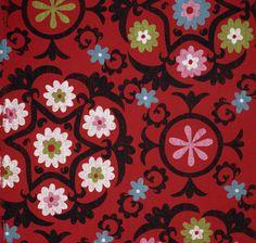 Suzani Red - Lula Fabrics - New Tribal Collection
