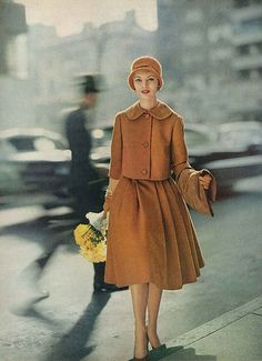Two piece wool set | August Vogue 1958...but I'd wear it today (if it was cool out)