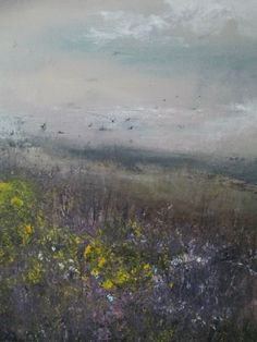 THIS IS A VERY SPECIAL ARTWORK, MEMORIES GROW ABUNDANTLY WITHIN THE HEATHER A SEA/LANDSCAPE FULL OF COLOUR FROM THE MAUVE FILLED SKY TO THE CHARCOAL GREY OF THE HORIZON AND THE HEATHER FILLED GRAS...
