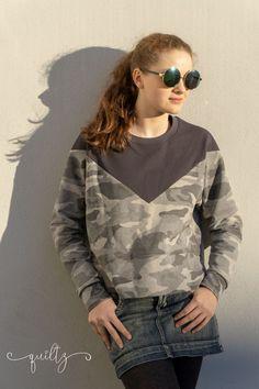crearetro-raglanpulli-12 Raglan, Outfit, T Shirts For Women, Clothing, Tops, Fashion, Contrast Color, Women's T Shirts, Sewing Patterns