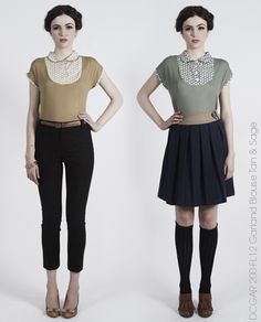 Garland Blouse by Dear Creatures - Autumn 2012 Collection