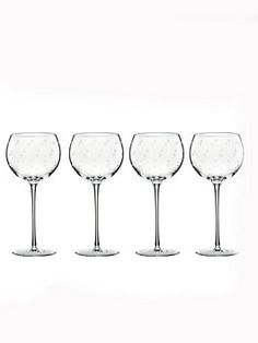 our delightful larabee dot design makes a case for the polka dot as the ultimate chic motif, and our champagne flutes and stemless wine glasses are the perfect case in point with their etched crystal accents and sleek shape.