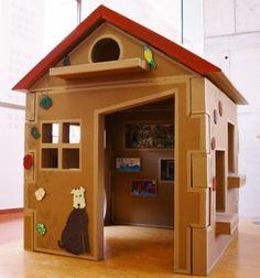 ma jolie cabane en carton crea cabane en carton cardboard house pinterest. Black Bedroom Furniture Sets. Home Design Ideas