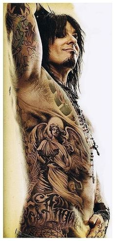 My Biggest inspiration in life Nikki Sixx, buisness man, author, rockstar, photographer, tatt'd up, Never Settle For Nothing Less Than Being A Badass.