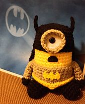 Ravelry: Batman Minion pattern by Jennifer Y. Wang