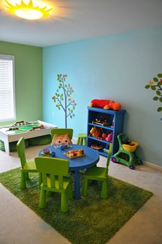 Very Cute Play Room... But my Girls would NEVER keep it that clean...