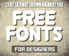 New Modernistic Free Fonts for Designers | Fonts | Graphic Design Junction
