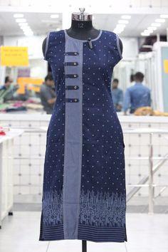 New catalogue launch today  Denim  ✨Details Fabrics - Denim Size - M,L,XL,XXL  Length 44''+ ☣Designs- 5 available ❄Quantity- 5 Pcs set MOQ - Full set only Note : Shipping charge extra Call / Whatsapp to order : +919925092926 visit us at : www.enjoylery.com New Kurti Designs, Printed Kurti Designs, Fancy Blouse Designs, Kurti Designs Party Wear, Kurta Patterns, Fancy Kurti, Kurti Embroidery Design, Kurta Neck Design, Indian Designer Suits