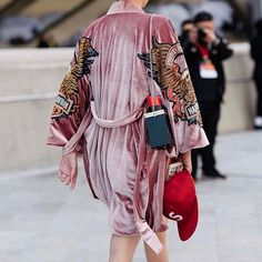 Robe or Kimono? Either way we love the boldness of the appliqué and texture on this one. @streettrends #harleydavidson #MCstyleinspo #OOTD  via MARIE CLAIRE SOUTH AFRICA MAGAZINE OFFICIAL INSTAGRAM - Celebrity  Fashion  Haute Couture  Advertising  Culture  Beauty  Editorial Photography  Magazine Covers  Supermodels  Runway Models