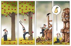 Talando árboles. #humor #risa #graciosas #chistosas #divertidas