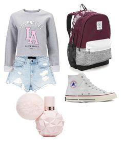 """""""School"""" by ettadance56 ❤ liked on Polyvore featuring Converse, Victoria's Secret, Alexander Wang and Miss Selfridge"""