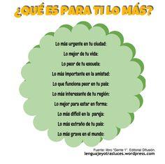 actividad superlativos en español ELE