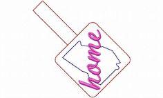 $2.95Georgia Home In The Hoop Snap Tab Key Fob Machine Embroidery Design