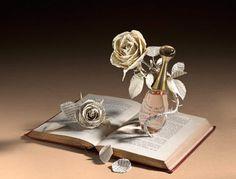 Perfume in Literature, Su Blackwell, Portfolio Book-Cut Sculpture Quentin Blake, Altered Books, Altered Art, Origami, Book Sculpture, Paper Sculptures, Portfolio Book, Perfume, Paper Artwork