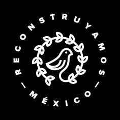 Reconstruyamos black designed by Diego Negrete. Typography Logo, Logo Branding, Branding Design, Logo Design, Lettering, Graphic Design Typography, Graphic Design Illustration, Bird Logos, Seal Design
