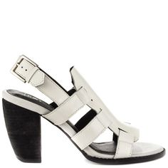 Sol Sana Razor Heel - White can be shopped from #Heelscom Online Store with Discount Codes and Promotions.