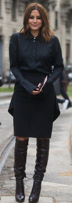 Christine Centenera spotted at Milan Fashion Week