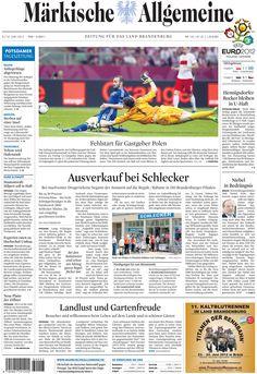Samstag, 9. Juni 2012 - König Fußball regiert wieder: Die Europameisterschaft in Polen und der Ukraine hat begonnen. Auf den Seiten der MAZ gibt es unter www.MaerkischeAllgemeine.de/EM2012 einen Liveticker, Videos, viele Texte und Hintergrundinformationen