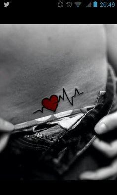 Definitely one of my faves #heartbeat #tattoo #heart