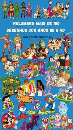 Relembre mais de 100 desenhos animados dos anos 80 e 90. Qual era o seu favorito?