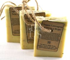 Organic Lemongrass Soap on a Rope Soap for Men Cold by twobloomsds, $7.00