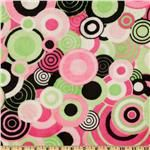 Kaufman Minky Cuddle Balloon Party Hot Pink/Lime