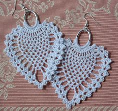 Crochet earring Large crochet earring Crochet by lindapaula, €11.00