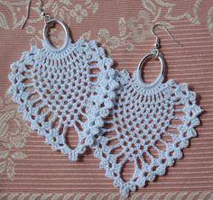 Crochet earring Large crochet earring Crochet by lindapaula, €11.00